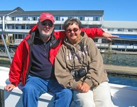 Jack and Monnie-on lighthouse cruise in Boothbay Harbor