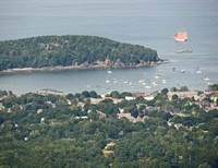View of Bar Harbor from Cadillac Mountain