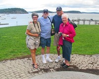 Monnie, Jack, Pete and Carole-in Bar Harbor