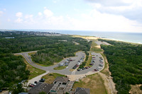 View from the top of the Cape Hatteras lighthouse