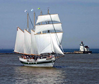 Tall Ship In Cleveland Harbor