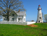 Lighthouse with keeper's house